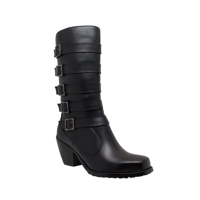 Image 8549 Women's 5-Buckle Heeled Boot