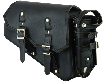 DS5011R Right Side Synthetic Leather Swing Arm Bag w/Bottle Holder