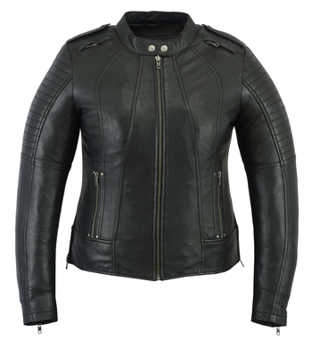 Image DS893 Women's Updated Biker Style Jacket