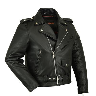Image DS732 Men's Premium Classic Plain Side Police Style Jacket