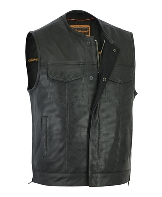 Image DS183 Men's Premium Perforated Single Back Panel Concealment Vest W/O Collar