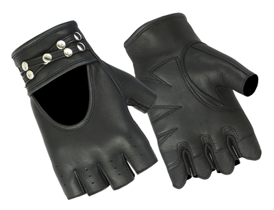 Image DS85 Women's Fingerless Glove with Rivets Detailing