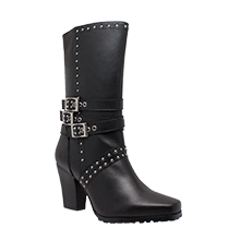 Image 8627 Women's Side Zipper Harness Boot