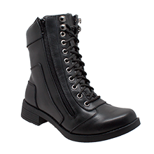 Image 8650 Women's Zipper Biker Boot