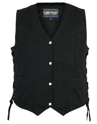 DM952 Women's Denim Classic Side Lace Vest