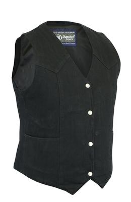 DM951 Women's Denim Classic Plain Sides Vest