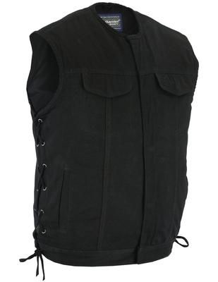 DM978 Denim Material, Upgraded Style Gun Pockets, All black construction.