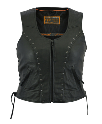 Image DS241 Women's Lightweight Vest with Rivets Detailing
