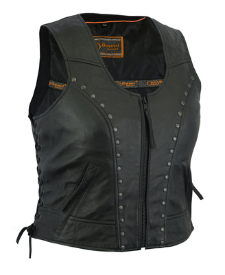 DS241 Women's Lightweight Vest with Rivets Detailing