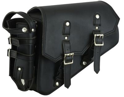 Image DS5011L Left Side Synthetic Leather Swing Arm Bag w/Bottle Holder