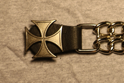 Image J217C Vest Extender Silver Iron Cross