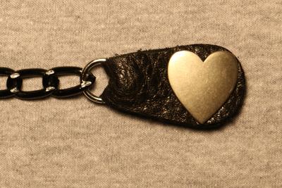 Image J234BK Vest Extender Silver Heart