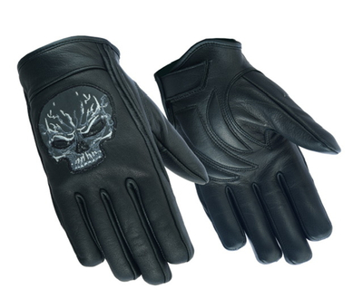 Image DS47   Reflective Skull Short Glove