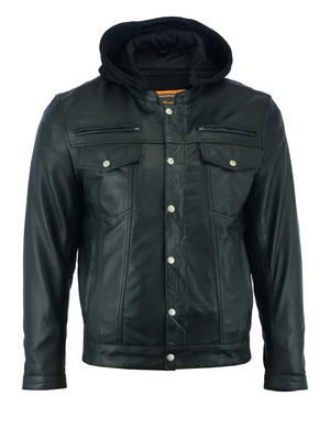 Image DS781 Men's Lightweight Drum Dyed Naked Lambskin Jacket