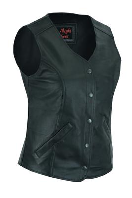 DS204 Women's Stylish Longer Body ¾ Vest – Plain Sides
