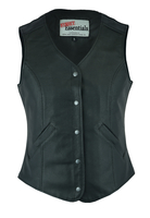 Image DS204 Women's Stylish Longer Body ¾ Vest – Plain Sides
