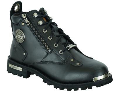 DS9730 Men's 6'' Side Zipper Plain Toe Boot