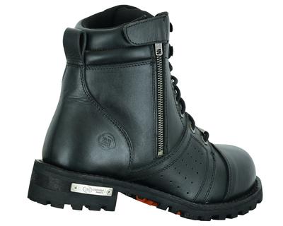 Image DS9731 Men's 6'' Side Zipper Plain Toe Boot W/Perforation