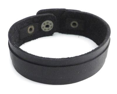Image PV3206BLK Black Layered Leather Strap Bracelet