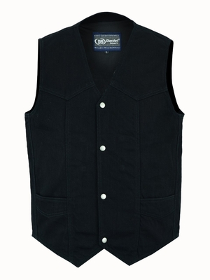 Image DM910 Men's Traditional Denim Vest with Plain Sides