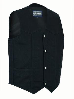 DM910 Men's Traditional Denim Vest with Plain Sides