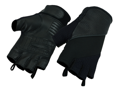 Image DS7 Leather/ Textile Fingerless Glove