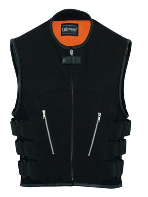 Image DS006 Men's Updated Canvas SWAT Team Style Vest