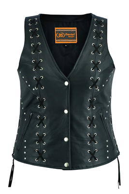 Image DS234 Women's Open neck Vest with Lacing Details