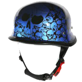 Image H83 Novelty German Blue Skull Graveyard - Non DOT