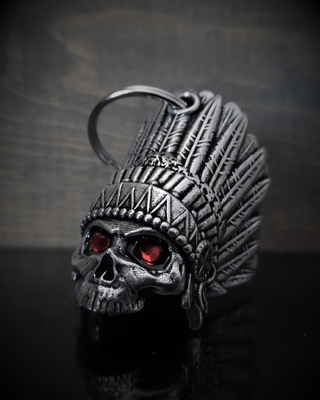 Image BB-74 Indian Skull Diamond Bell