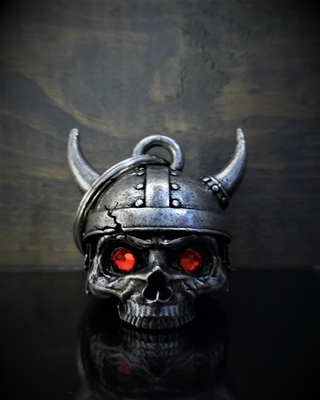 Image BB-78 Viking Helmet Skull Diamond Bell
