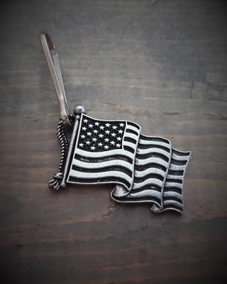 Image BZP-27 US Flag Zipper Pull
