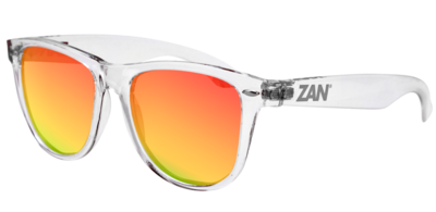 EZMT04 Minty Clear Frame, Smoked Crimson Mirrored lens