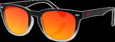 EZNV03 NVS Sunglass, Black Gradient Frame Smoked Crimson Mirrored lens