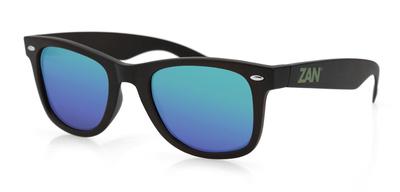 EZWA01 Winna Sunglass, Matte Black, Smoked Green Mirror Lens