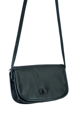 Image DS8500 Women's Black Construction Leather Purse/Shoulder Bag
