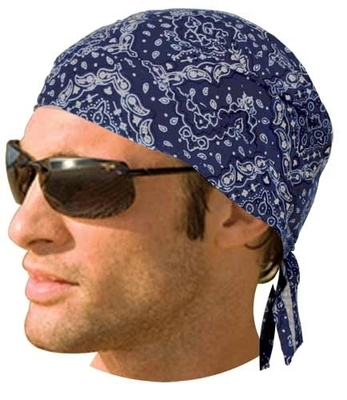 Image HW2687 Headwrap Paisley Navy