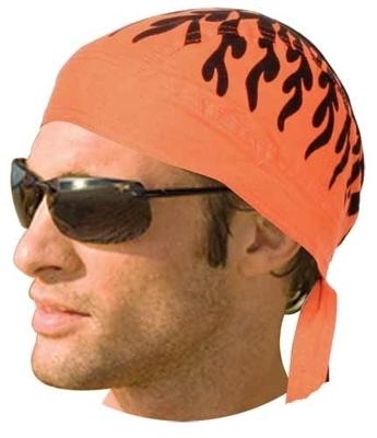 Image HW2686 Headwrap Orange Flames