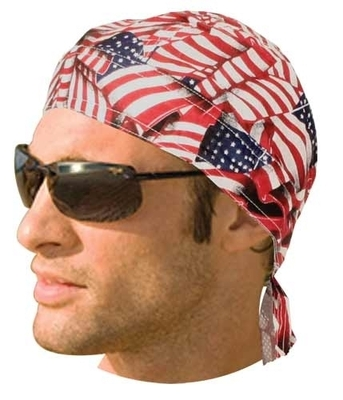 Image HW2672 Headwrap Tossed American Flag