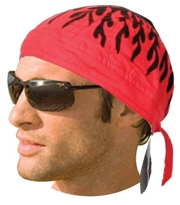 Image HW2673 Headwrap Red Flames