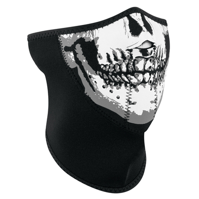 Image WNFM002H3-Panel Half Mask, Neoprene, Skull Face