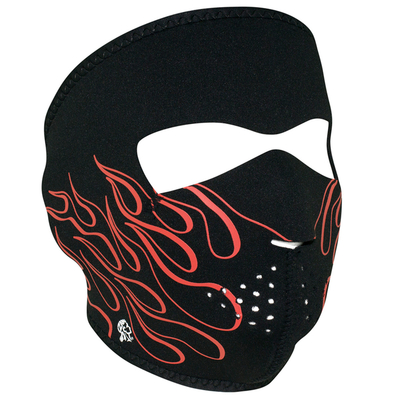 Image WNFM045 ZAN® Full Mask- Neoprene- Orange Flame