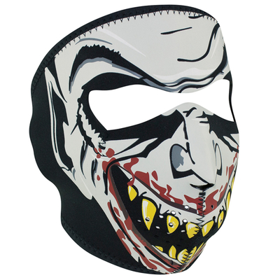 Image WNFM067G ZAN® Full Mask- Neoprene- Vampire, Glow in the Dark
