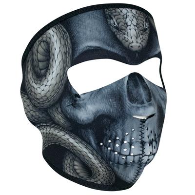 WNFM415 ZAN® Full Mask- Neoprene- Snake Skull