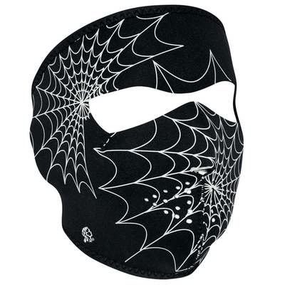 Image WNFM057G ZAN® Full Mask- Neoprene- Spider Web, Glow in the Dark