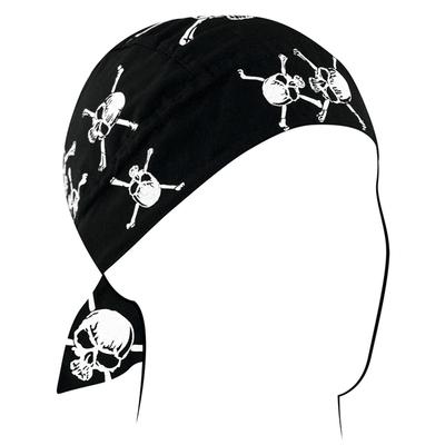 Image Z113C Flydanna®, Cotton, White Skull and Crossbones