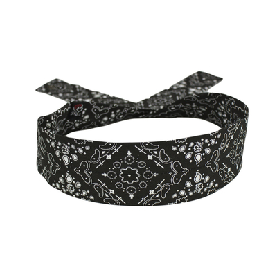 DP101 Cooldanna® Polyester, Black Paisley