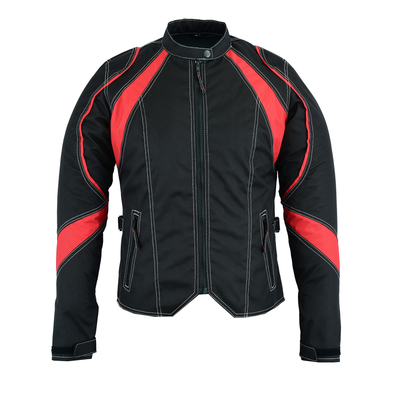 Image DS826RD Women's Embroidered Crown Riding Jacket - Red