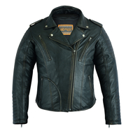 Image DS878 Women's Lightweight Drum Dyed Distressed Naked Lambskin M/C Jacket
