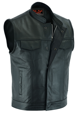 AM9192 Concealed Snap Closure, Scoop Collar & Hidden Zipper